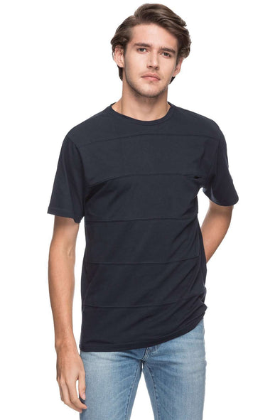 Cottonworld Men's Tshirts MEN'S 100% COTTON SOLID NAVY REGULAR FIT TSHIRT