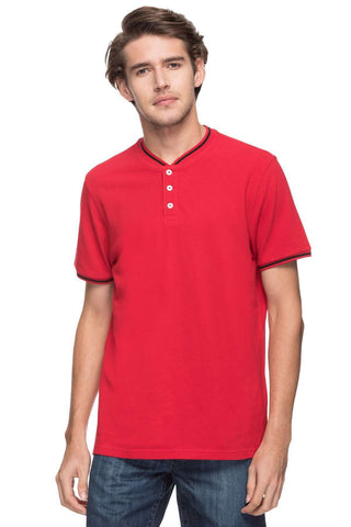 Cottonworld Men's Tshirts MEN'S 100% COTTON SOLID RED REGULAR FIT TSHIRT