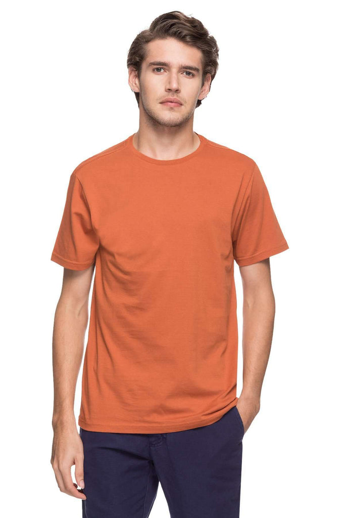 Cottonworld Men's Tshirts MEN'S 100% COTTON SOLID RUST REGULAR FIT TSHIRT