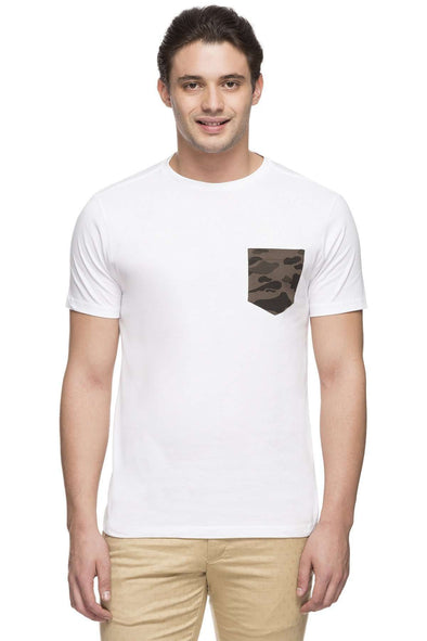 Cottonworld Men's Tshirts MEN'S 100% COTTON WHITE TSHIRT