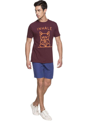 Cottonworld Men's Tshirts MEN'S 100% COTTON WINE TSHIRT