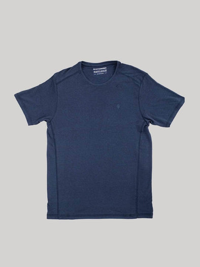 Cottonworld Men's Tshirts Men's Cotton Bamboo Elastane Grey Regular Fit Tshirt