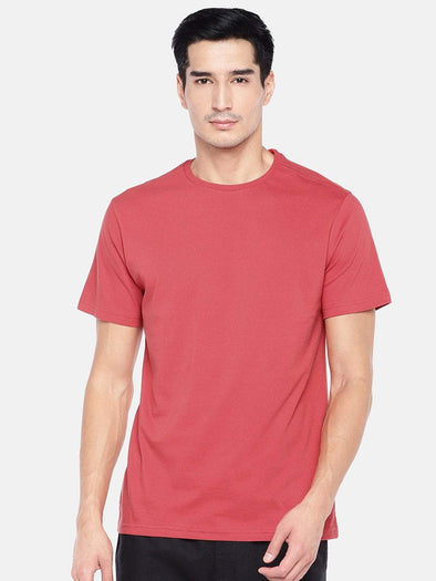 Men's Cotton Coral Regular Fit Tshirt Cottonworld Men's Tshirts