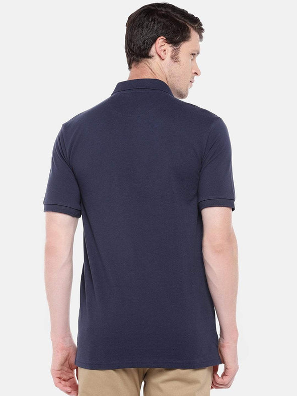Men's Cotton Dk Blue Regular Fit Tshirt Cottonworld Men's Tshirts