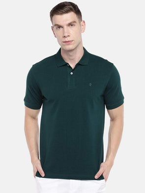 Cottonworld Men's Tshirts Men's Cotton Green Regular Fit Tshirt
