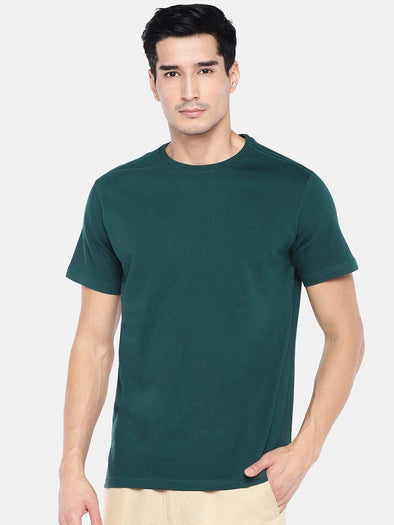 Men's Cotton Green Regular Fit Tshirt Cottonworld Men's Tshirts