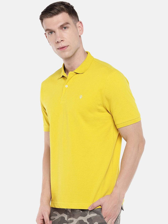 Cottonworld Men's Tshirts Men's Cotton Mustard Regular Fit Tshirt