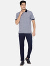 Men's Cotton Navy Regular Fit Tshirt Cottonworld Men's Tshirts