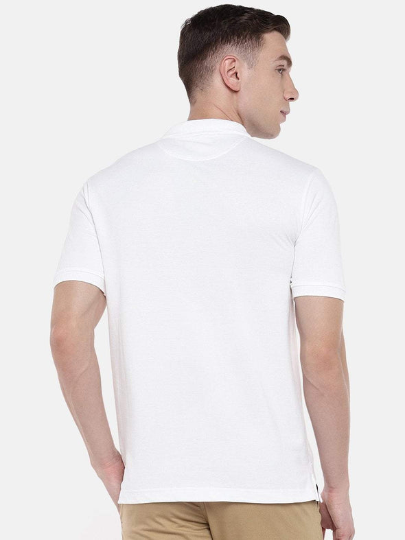 Cottonworld Men's Tshirts Men's Cotton White Regular Fit Tshirt