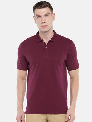 Cottonworld Men's Tshirts Men's Cotton Wine Regular Fit Tshirt