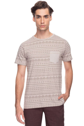 Cottonworld Men's Tshirts Men Sand Regular Cotton T-Shirts