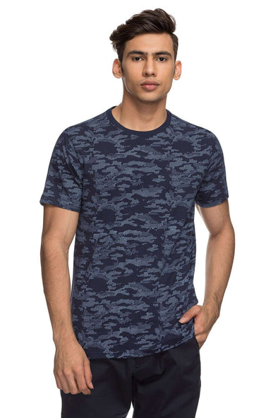 Cottonworld Men's Tshirts MENS 100% COTTON HALF SLEEVE TSHIRT - BLUE