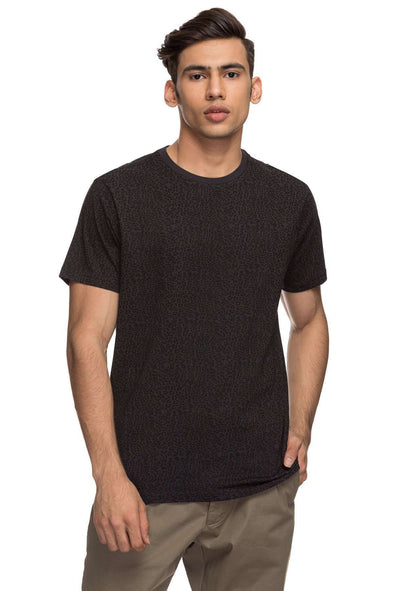 Cottonworld Men's Tshirts MENS 100% COTTON HALF SLEEVE TSHIRT - DARK GREY