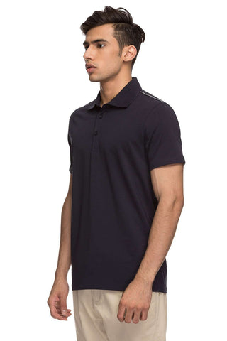 Cottonworld Men's Tshirts MENS 95% COTTON,5% LYCRA HALF SLEEVE TSHIRT - NAVY