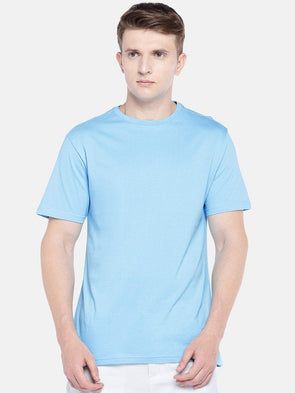 Cottonworld Men's Tshirts SMALL / BLUE Men's Cotton Knit Sky Regular Fit Tshirt