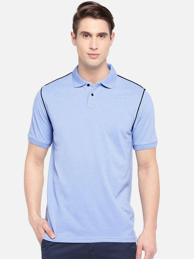 Men's Cotton Sky Blue Regular Fit Tshirt Cottonworld Men's Tshirts