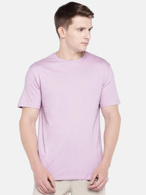 Men's Cotton Knit Lilac Regular Fit Tshirt Cottonworld Men's Tshirts