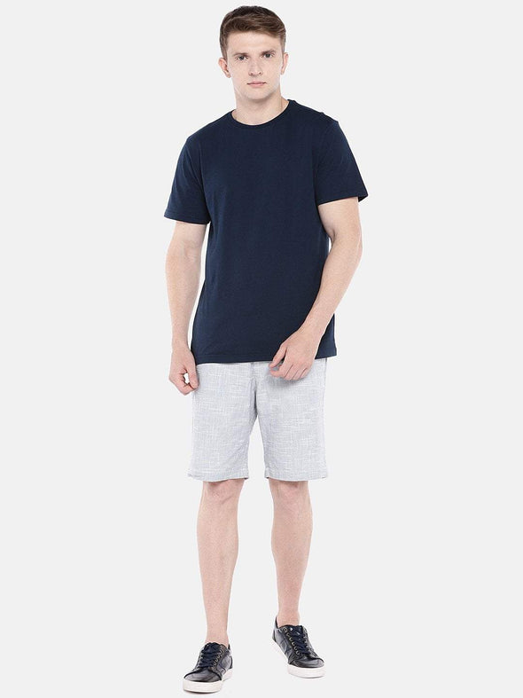 Men's Cotton Knit Navy Regular Fit Tshirt Cottonworld Men's Tshirts