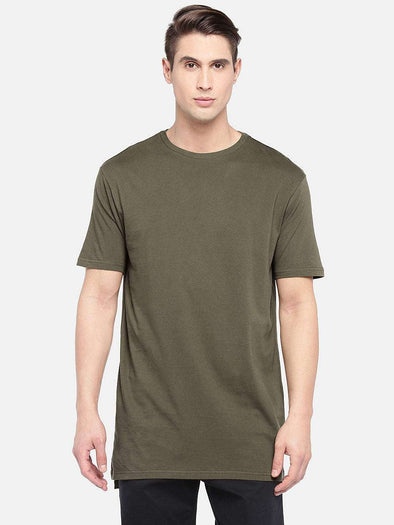 Cottonworld Men's Tshirts SMALL / OLIVE Men's Cotton Knit Olive Regular Fit Tshirt