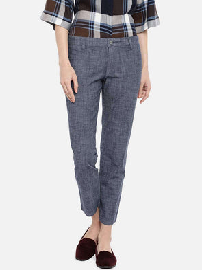 Cottonworld PANTS 70 CM-SMALL / DENIM BLUE WOMEN'S 98% COTTON 2% LYCRA DENIM BLUE REGULAR FIT PANTS