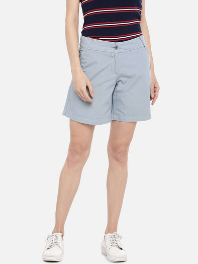 Cottonworld SHORTS 70 CM-SMALL / GREY WOMEN'S 100% COTTON GREY REGULAR FIT SHORTS