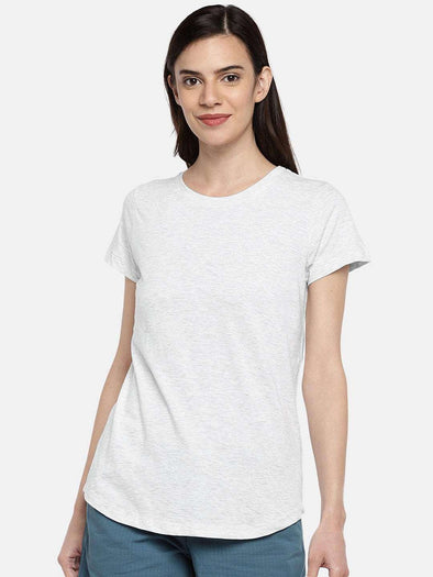 Cottonworld TSHIRT 77 CM-XSMALL / ECRU WOMEN'S 100% COTTON ECRU REGULAR FIT TSHIRT