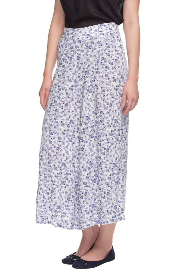 Viscose Elastane Blue Regular Fit Kpants Cottonworld Women's Culotte