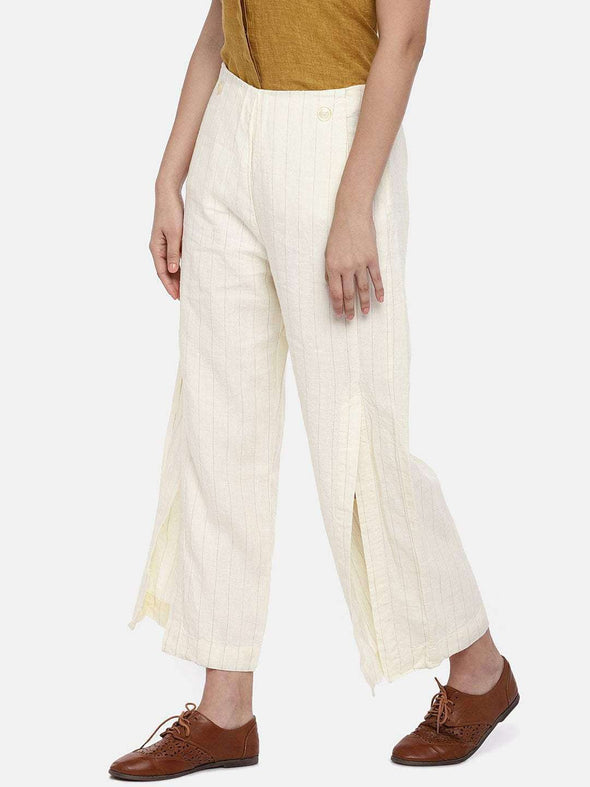 Women's Linen Khaki Regular Fit Culotte Cottonworld Women's Culotte