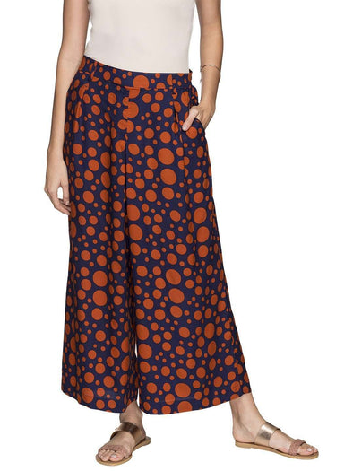 Cottonworld Women's Culotte WOMEN'S 100% RAYON RED REGULAR FIT CULOTTE