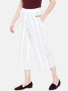 Women's Cotton Linen Blue Regular Fit Culotte Cottonworld Women's Culottes