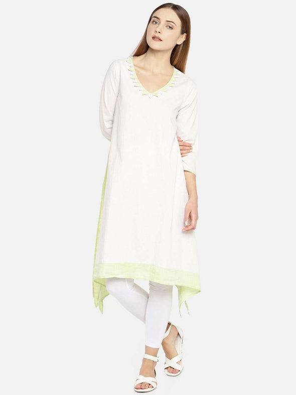 Women's Cotton Natural A Line Kurti Cottonworld Women's Kurtis