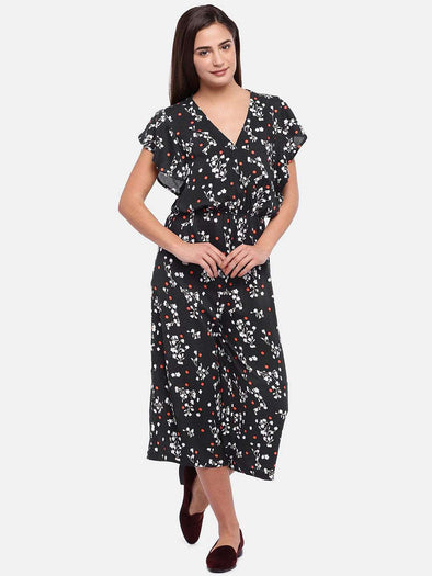 Women's Rayon Black Regular Fit Jumper Cottonworld Women's Dresses