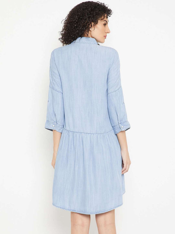 Women's Tencel Blue Regular Fit Dress Cottonworld Women's Dresses