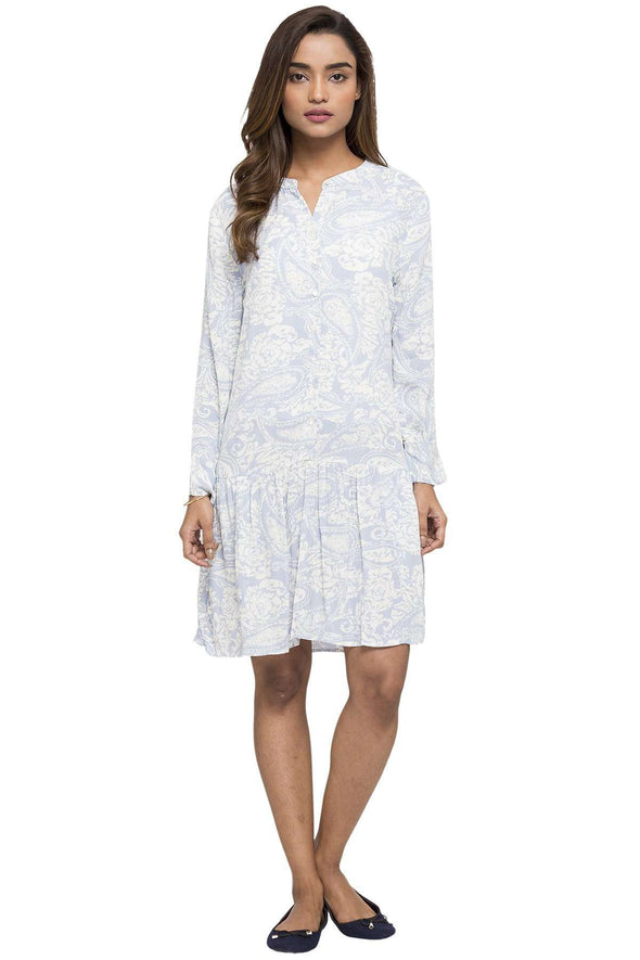 Women's Viscose Blue Regular Fit Dress Cottonworld Women's Dresses