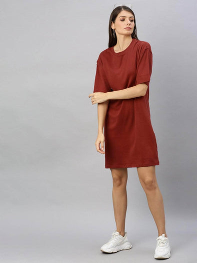 Cottonworld Women's Dresses Women's Cotton Brick Regular Fit Kdress