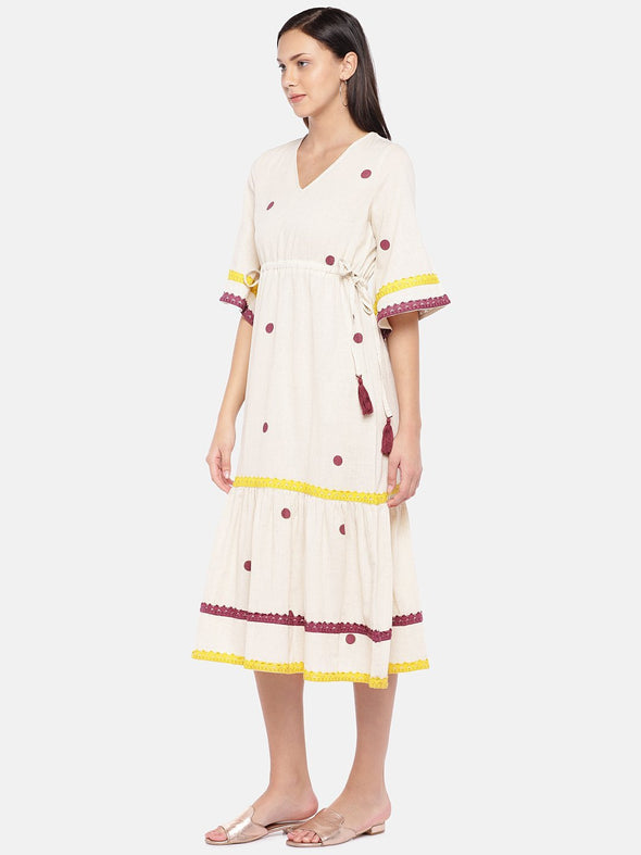 Women's Cotton Flax Natural Regular Fit Kaftan Cottonworld Women's Dresses