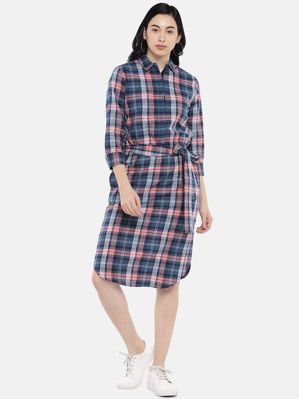 Women's Cotton Multi Regular Fit Dress Cottonworld Women's Dresses