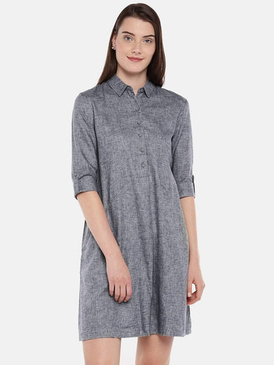 Women's Cotton Navy Regular Fit Dress Cottonworld Women's Dresses