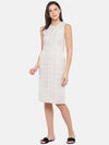 Women's Linen Beige Regular Fit Dress Cottonworld Women's Dresses
