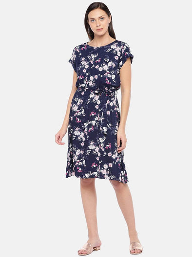 Women's Viscose Lilac Regular Fit Dress Cottonworld Women's Dresses