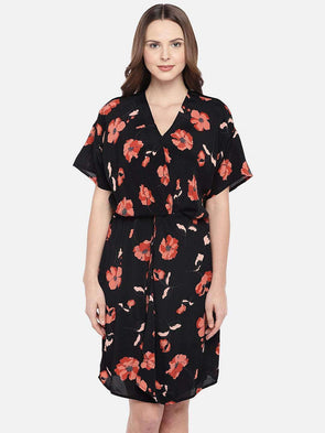 Women's Viscose Black Regular Fit Dress Cottonworld Women's Dresses