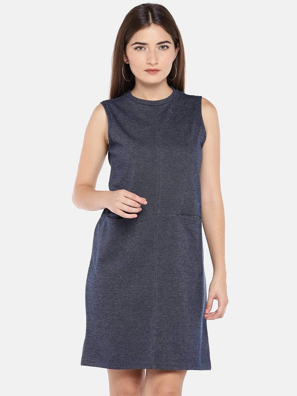 Women's Cotton Knit Denim Regular Fit Kdress Cottonworld Women's Dresses