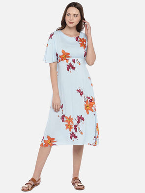 Women's Rayon Multi Regular Fit Dress Cottonworld Women's Dresses