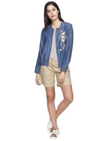 Cottonworld Women's Jackets WOMEN'S 100% TENCEL DENIM REGULAR FIT JACKETS