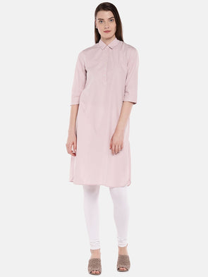 Cottonworld Women's Kurtis Women's Cotton Rose Regular Fit Kurta
