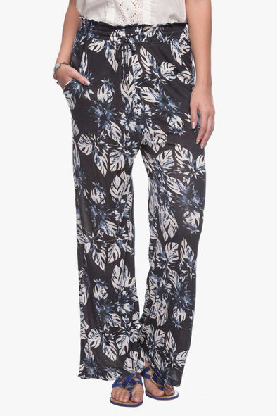 Cottonworld Women's Pallazo Women Navy Printed Pants