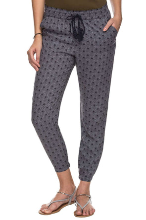 Cottonworld Women's Pants 100% MODAL WOVEN NAVY REGULAR FIT PANTS