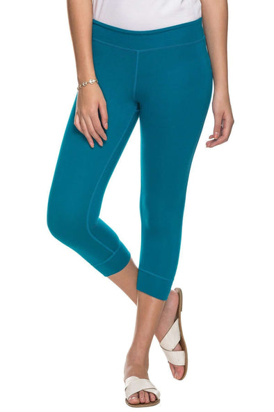 Viscose Cotton Elastane Teal Regular Fit Kpants Cottonworld Women's Pants