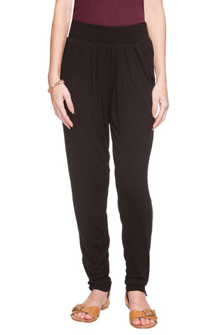 Cottonworld Women's Pants WOMEN  95% VISCOSE 5% ELASTANE BLACK REGULAR FIT KPANT - 13986-17728-BLACK