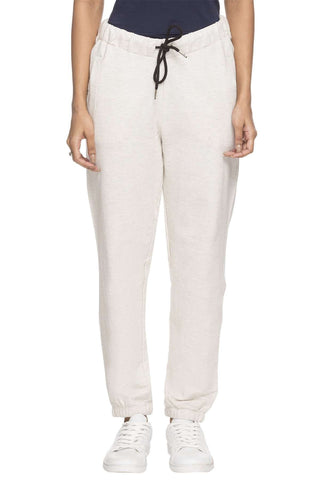 Cottonworld Women's Pants WOMEN'S 100% COTTON ECRU MELAN REGULAR FIT KPANTS